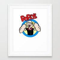 popeye Framed Art Prints featuring Popeye by idaspark