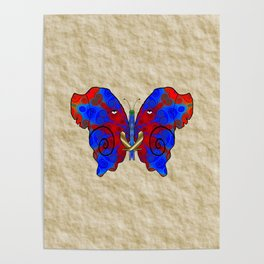 Nautilus Elephant Butterfly Poster