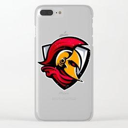 Spartan Helmet Shield Clear iPhone Case