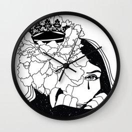 Drama Queen winter flower space Wall Clock