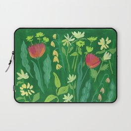 Sweet Flowers and Stems Laptop Sleeve