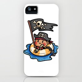 Pirate life buoy anchor treasure map Kids gift iPhone Case