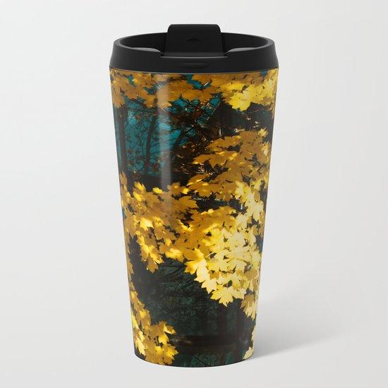 golden autumn Metal Travel Mug