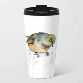 Sylvereye - Waxeye bird Metal Travel Mug