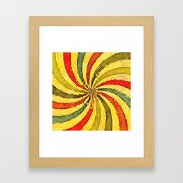 retrowaterswirl Framed Art Print