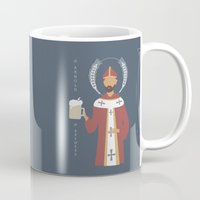 arnold Mugs featuring St. Arnold of Brewers by Sarah Duet