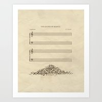 sound Art Prints featuring The Sound of Silence by Quick Brown Fox