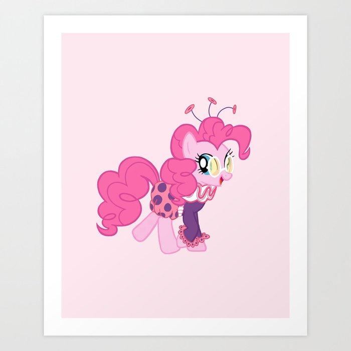 Jolly Pinkie Pie Art Print
