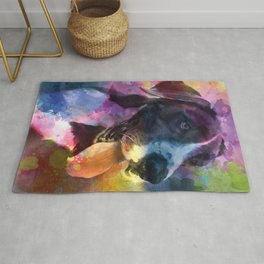 Dog with Loveable Heart Rug