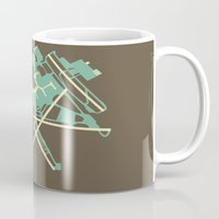 50s Mugs featuring Baltimore-Washington (BWI) - 50s by Kyle Rodgers