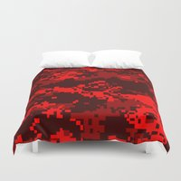 war Duvet Covers featuring War by Spotted Heart