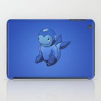mega man iPad Cases featuring Mega-Man Whale by CoolBreezDesigns