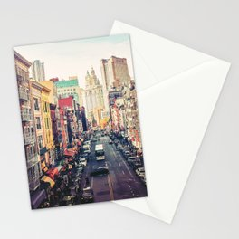 New York City Above Chinatown Stationery Cards