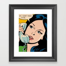 Oh... I Don't Know... Maybe... Framed Art Print