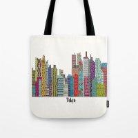 tokyo Tote Bags featuring Tokyo by bri.buckley