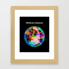 Epic Mythical Creatures chart Framed Art Print