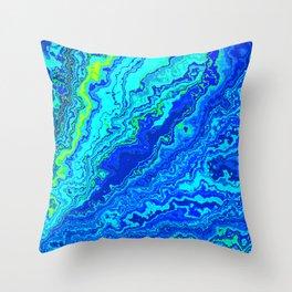 Vibrant Marble Texture no58 Throw Pillow