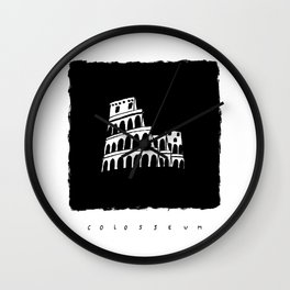 Colosseum in ink Wall Clock