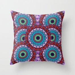 New Dawn Mandala Art - Sharon Cummings Throw Pillow