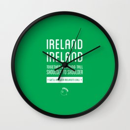 Ireland Rugby Union national anthem - Ireland's Call Wall Clock