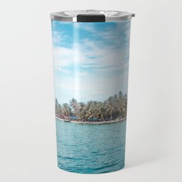 Blue and turquoise paradise of the San Blas Islands, Panama in the Caribbean Sea Travel Mug