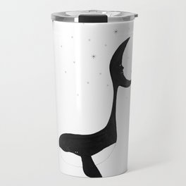 Dreamy whale and moon in starlit night Travel Mug