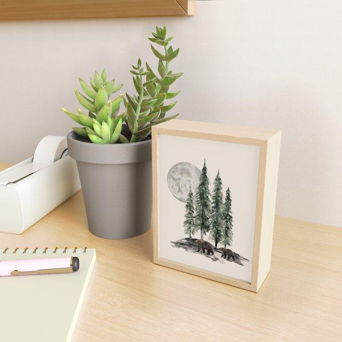 Full Moon Rising Framed Mini Art Print
