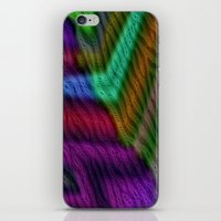 knit iPhone & iPod Skins featuring Knit by RingWaveArt