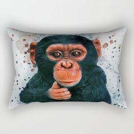 Baby Chimpanzee Rectangular Pillow