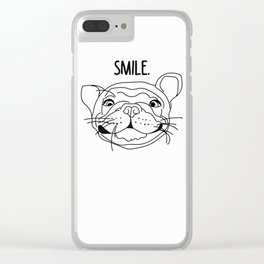 Smile - Frenchie Clear iPhone Case