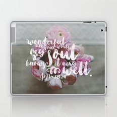 Psalm 139 14 Encouraging Scripture Ranunculus Floral Photograph Laptop & iPad Skin