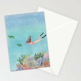 Coral reef Stationery Cards