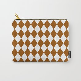 Diamonds (Brown/White) Carry-All Pouch