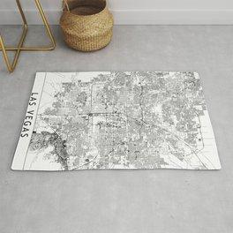 Las Vegas White Map Rug
