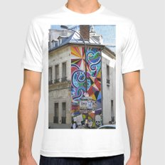 Something about the color MEDIUM White Mens Fitted Tee