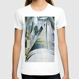 The Bars Within Abstract Metal Seascape T-shirt