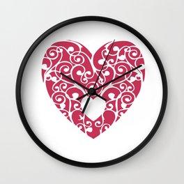 A pink Heart Wall Clock