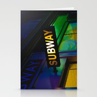 subway Stationery Cards featuring Subway by Mark Spence