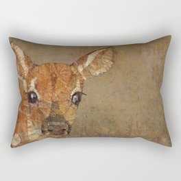 fawn in the wood Rectangular Pillow