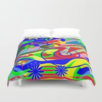 graffiti Duvet Covers featuring Graffiti by DesignsByMarly