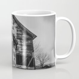 School's Out - Abandoned Schoolhouse in Iowa in Black and White Coffee Mug