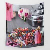 religion Wall Tapestries featuring Pink it's a Religion by Kristina Haritonova