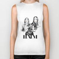 haim Biker Tanks featuring Haim the band by Mariam Tronchoni
