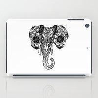 henna iPad Cases featuring Henna Elephant by Kaitlyn Koehn
