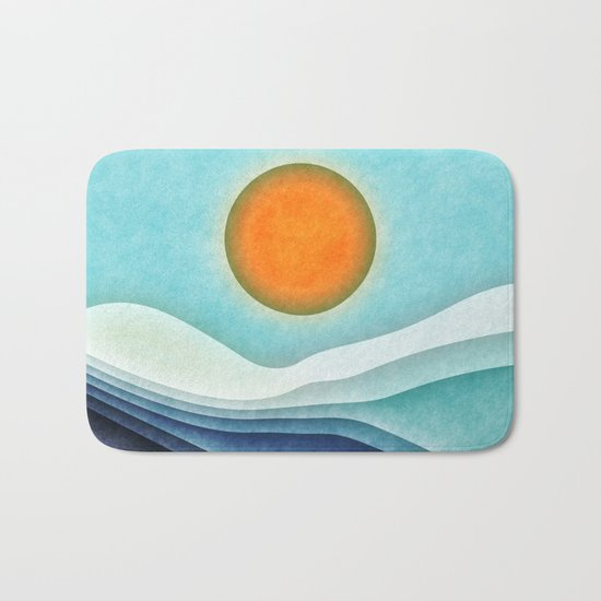 Sunshine Over Blue Mountains Bath Mat