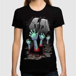 Zombie Hands on Cemetery T-shirt