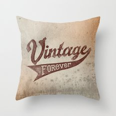 Vintage Forever Throw Pillow