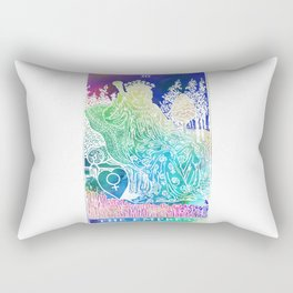The Empress- A Beautiful Watercolour Inspired Soft Tarot Print Rectangular Pillow
