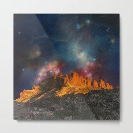Sacred Mountains 2 (galaxy sky) Metal Print