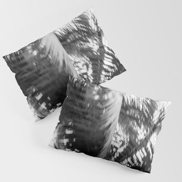 Moving palmtree | Black and white abstract photography | Tropical surfer vibe print Pillow Sham